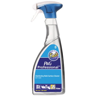 Flash, Multi-Surface & Glass Cleaner, 6x750ml
