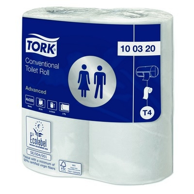 Tork Toilet Roll Conventional 2 Ply White Case 36