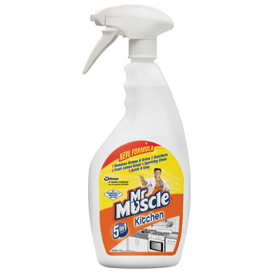 Mr Muscle 5 in 1 Kitchen Cleaner Yellow Each 750ml