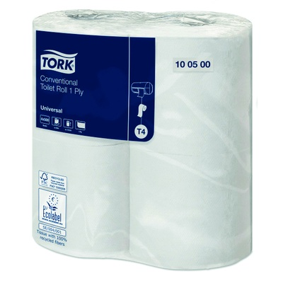Tork Conventional Toilet Tissue Roll, 1 Ply, Case 36