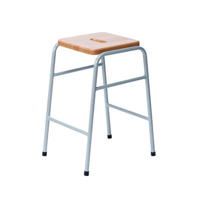 25 Series Stool Solid Wood Beech Top, Duraform Light Speckled Frame And Hand Hole Sh520Mm