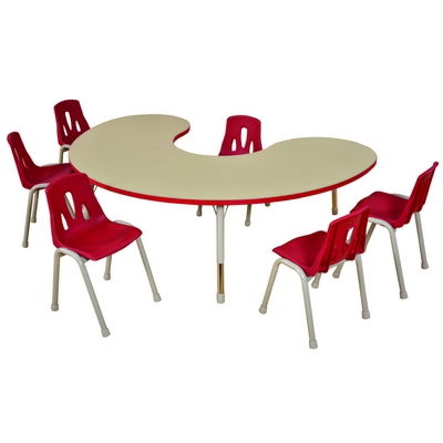 Thrifty Group/ Arc Table - 6 Seater Height Adjustable 370-620Mm