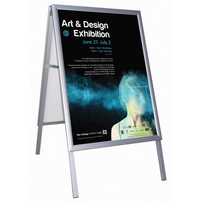 Busygrip A' Poster  Frame Outdood Freestanding 2-Sided B2 H700 X W500Mm