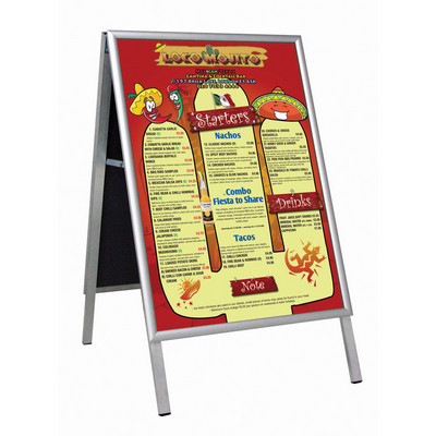 Busygrip A' Poster Frame Indoor Freestanding 2-Sided   B1  H1000 X W700Mm