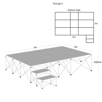 Ultralight Portable Staging Package C