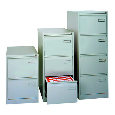 4 Drawer Cabinet With Security Locking Bar Grey