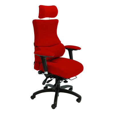 Chronic Back Care Chair With Coccyx Cut-Out Seat With Adjustable Headrest