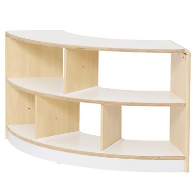 Alps Series Open Back 2 Shelf Curved Unit
