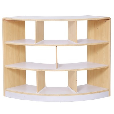Alps Series Open Back 3 Shelf Curved Unit