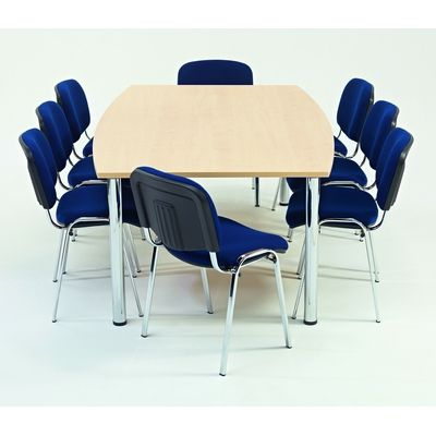 Large Barrel Shaped Meeting Room Table W2400  X D1000 X H720Mm