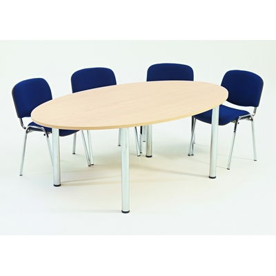 Large Oval Shaped Table W2400 X D1200 X H720Mm