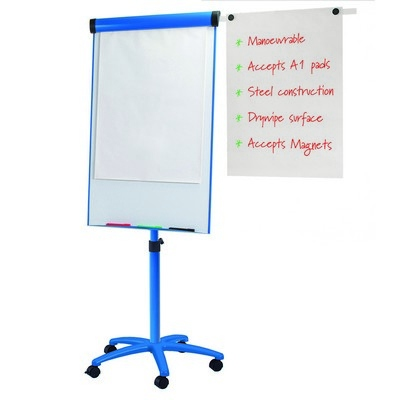 Combi Mobile Whiteboard H1200 X W700Mm Blue Fabric