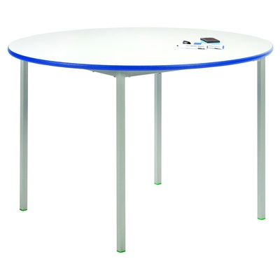 Circular Fully Welded Whiteboard Table 1000Mm