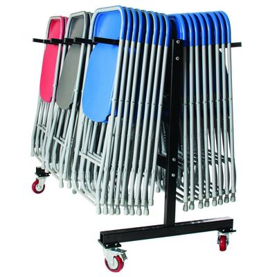 60 Zlite Straight Back Chairs Plus Trolley