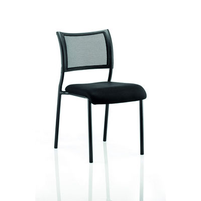 Brunswick Chair With Mesh Back With Arms Black Frame And Fabric