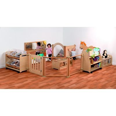 Playscapes Baby Enclosure Zone With Wicker Baskets