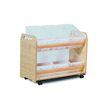 Early Years Tilt Tote Storage Clear Tubs