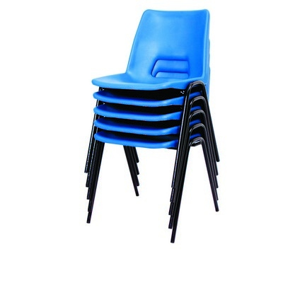 30 Poly Stacking Chairs Plus 15 Fully Welded Spiral Stacking Tables Classpack