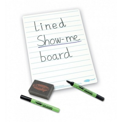 Bulk Box Drywipe Board Pack With Pens And Erasers Lined A4