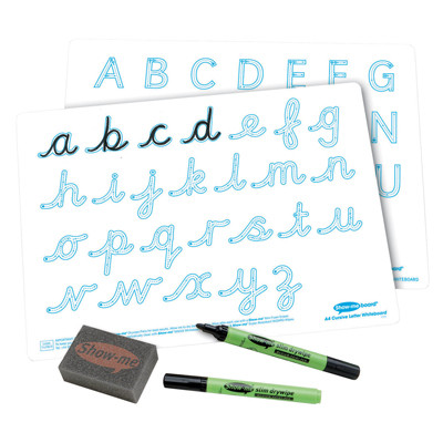 A4 Double-Sided Cursive Letter Formation Set 100