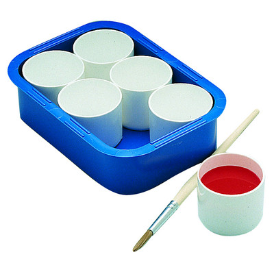 Paint Pots Set of 6 With Tray Each