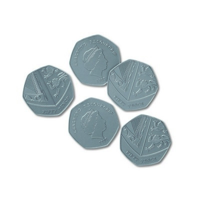 Play Money, 50p Coins Pack 100