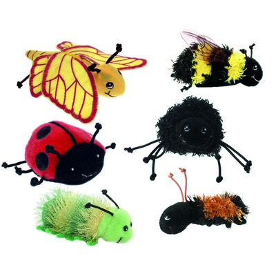 Mini Beast Finger Puppets, Set 6