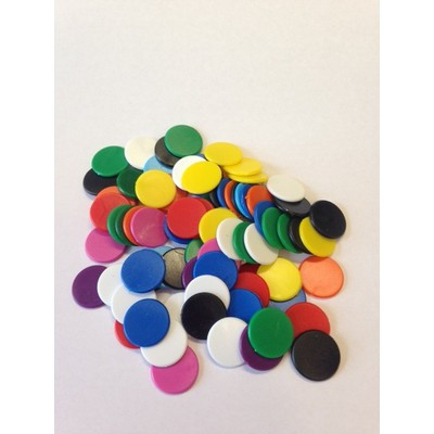 Counters, 16mm Diameter, 5 Colours, Pack 200