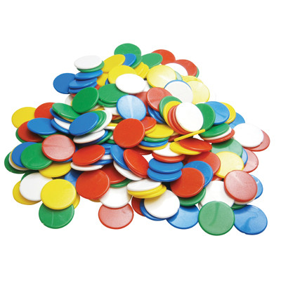 Counters, 22mm Diameter, 5 Colours, Pack 200