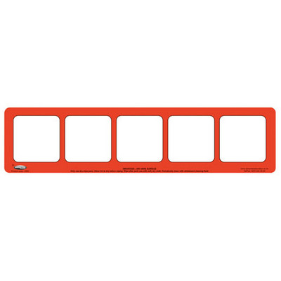 5 Section Phoneme Frame, Pack of 5, Red