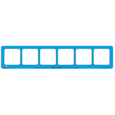 6 Section Phoneme Frame, Pack of 5, Blue