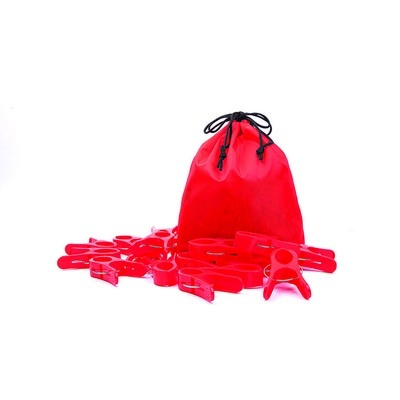 Large Pegs Red Pack 20