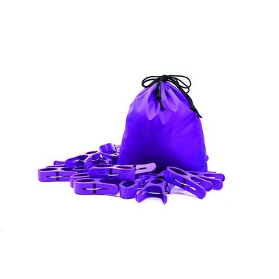 Large Pegs Purple Pack 20