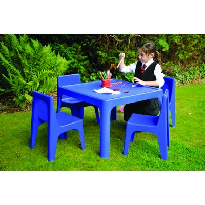 Table & 4 Chair Set, Blue