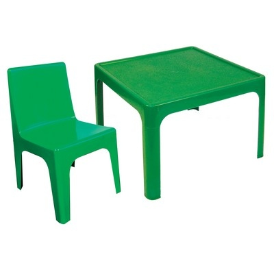 Table & 4 Chair Set Green