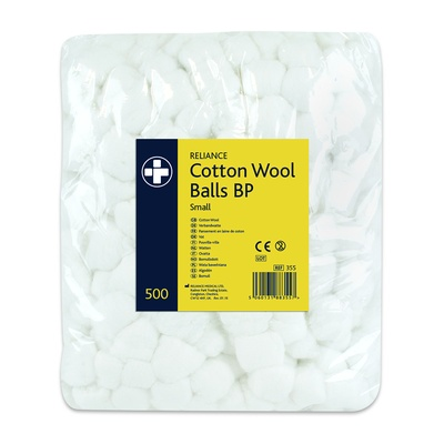 Cotton Wool Balls, Small, Pk500