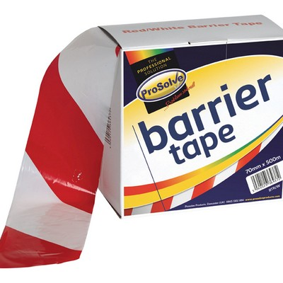 Prosolve Non-Adhesive Red And White Barrier Tape