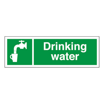 Drinking Water' Sign Each