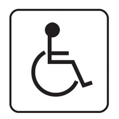 Disabled Toilet Sign Each