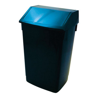 Addis Flip Top Litter Bin Blue Each 60ltr