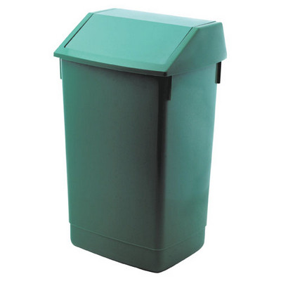 Addis Flip Top Litter Bin Green Each 60ltr