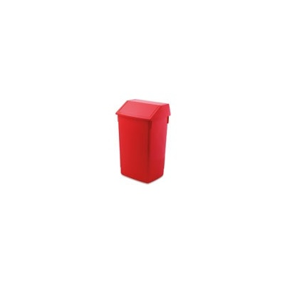 Addis Flip Top Litter Bin Red Each 60ltr