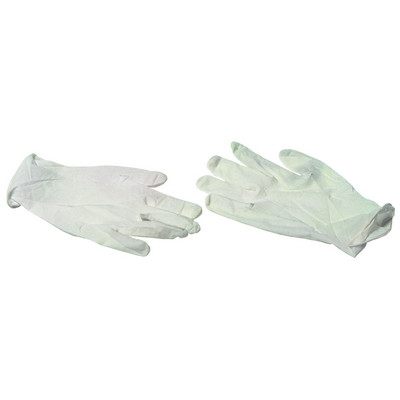 Lightly Powdered Disposable Gloves Large Box 100