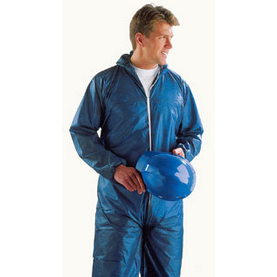 Disposable Hooded Coverall L White Each