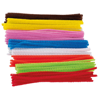 Coloured Pipe Cleaners 15Cm Assorted Pack 100