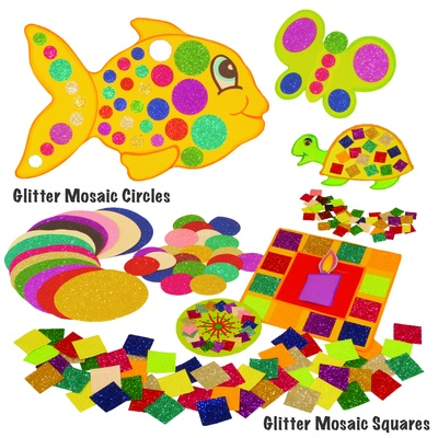 Glitter Mosaic Squares Assorted Pack 3000