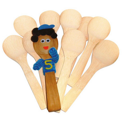 Plain wooden spoons Pk 10