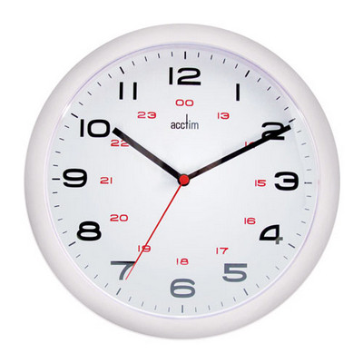 12/24 Hour Dial Clock 225Mm Each