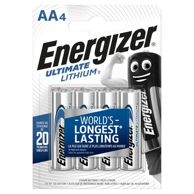 Energizer Aa Lithium Battery Aa Pack 4