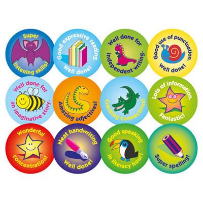 Literacy Stickers 24mm Pack 120